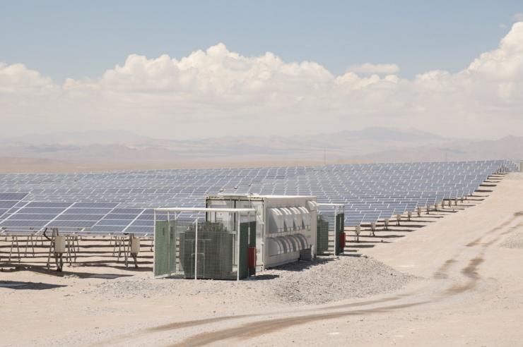 Photovoltaikanlage in der chilenischen Wüste