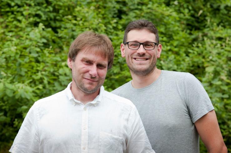 Daniel Weiß und Paul Kempf, im Freien fotografiert